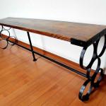 アンティークアイアン多目的テーブル
