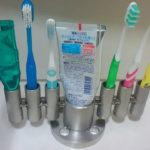 インダストリアル・歯ブラシ立て・ペン立て・高級ステンレス製
